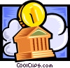 Vector Clipart image  of a finance