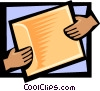 Vector Clipart picture  of a business folder passing hands