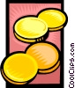 Vector Clipart illustration  of a gold coins