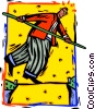 Vector Clipart image  of a tightrope balance
