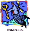 man with a key Vector Clipart picture