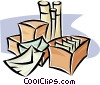 shipping packages Vector Clipart illustration