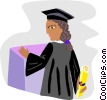 graduate at the podium, valedictorian Vector Clip Art image