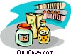 grocery items Vector Clipart illustration