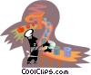 assembly line worker in a canning factory Vector Clipart picture