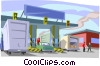 transportation, border crossing Vector Clipart picture