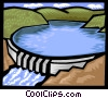 Vector Clip Art graphic  of a hydro damn