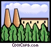 Vector Clipart illustration  of a nuclear energy