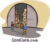 warehouse Vector Clipart illustration