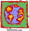 Vector Clip Art graphic  of a earth