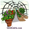greenhouse Vector Clipart illustration