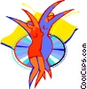 Vector Clipart graphic  of a dancing