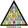 pyramid symbol of man Vector Clip Art picture
