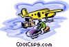 snowmobile, remote transport Vector Clipart illustration