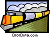 Vector Clip Art image  of a rail transport
