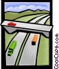 highway transportation Vector Clipart image
