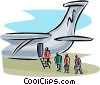 Vector Clipart graphic  of an air travel