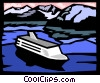 Vector Clipart illustration  of a cruise ship