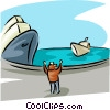 ocean transport Vector Clipart picture