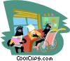 Vector Clip Art graphic  of a Office workers