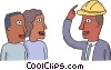 man with a hard hat Vector Clip Art graphic