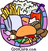 Food and dining, fast foods Vector Clipart image