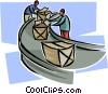 assembly line Vector Clip Art picture