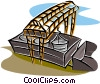 loading a railcar Vector Clip Art picture