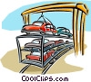 Vector Clip Art graphic  of a loading cars