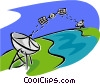 global communications Vector Clipart graphic