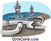 Vector Clip Art image  of a petroleum pipeline