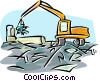 scrap metal processing Vector Clipart image