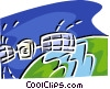 Vector Clipart illustration  of a global communications