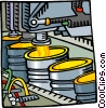 Assembly line Vector Clipart graphic