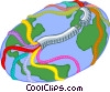 Vector Clip Art picture  of a global communications