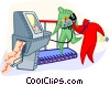 running on a treadmill Vector Clipart illustration