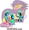 doctors in surgery Vector Clip Art picture