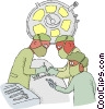 Vector Clip Art graphic  of a operating room
