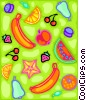 Vector Clip Art graphic  of a modern fruit design