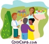 Vector Clipart picture  of a office party