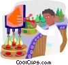assembly line worker Vector Clip Art image