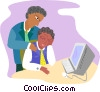 office worker consoling an associate Vector Clipart illustration