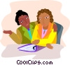 Vector Clipart graphic  of a business discussions