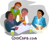 Vector Clipart illustration  of a office meeting