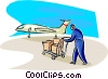 Vector Clip Art image  of an air travel