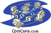 Vector Clip Art image  of a computers