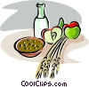 porridge with fruits Vector Clipart picture