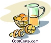 Vector Clipart illustration  of a orange juice