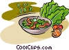 Vector Clipart illustration  of a salad