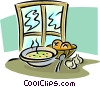 Vector Clip Art picture  of a breakfast